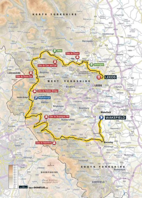 Tour de Yorkshire Route