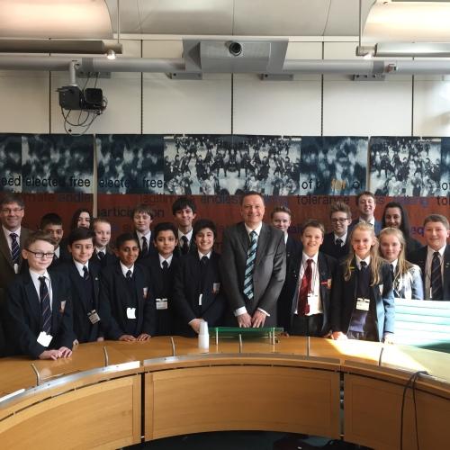 Huddersfield Grammar in Parliament