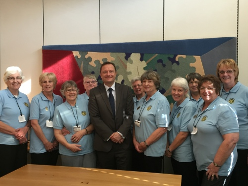 Holmfirth Inner Wheel club in Parliament