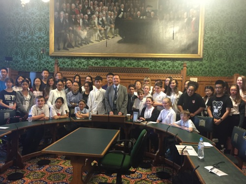 Honley High & Chinese Students in Parliament