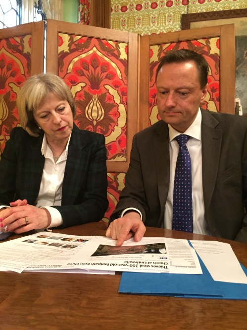 Theresa May with Jason