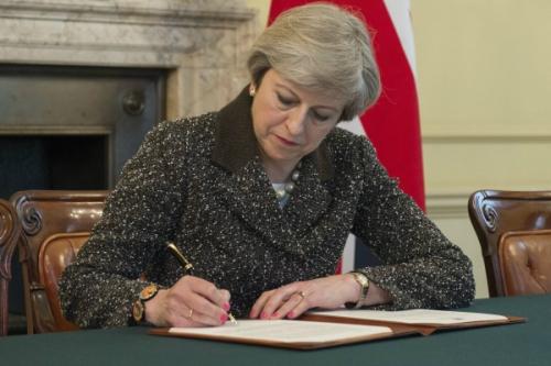 Theresa May triggers A50