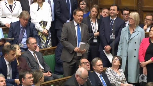 Jason McCartney PMQs 2017